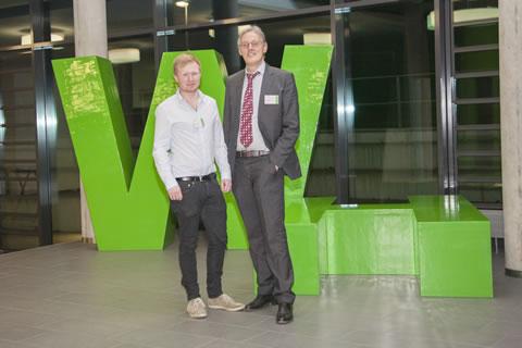 von links nach rechts: Matthias Gertzen - Stipendiat, Gregor-B. Sprißler - Kanzlei Korte & Partner